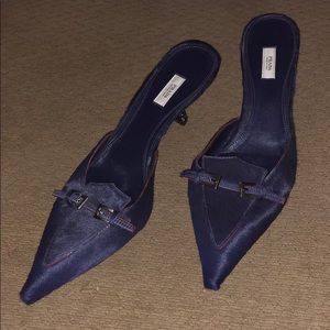 Prada fur kitten heels